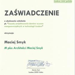 Certyfikat IZODOM 2000